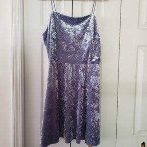Lavender stretch velvet mini dress XXL